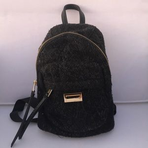 Juicy couture black cloth small backpack